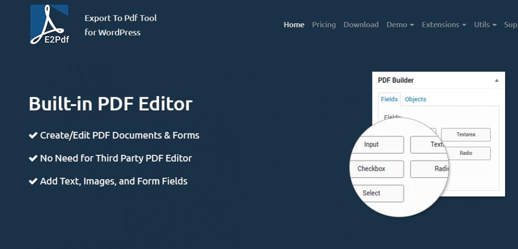 E2PDF - Export to PDF Tool for Wordpress