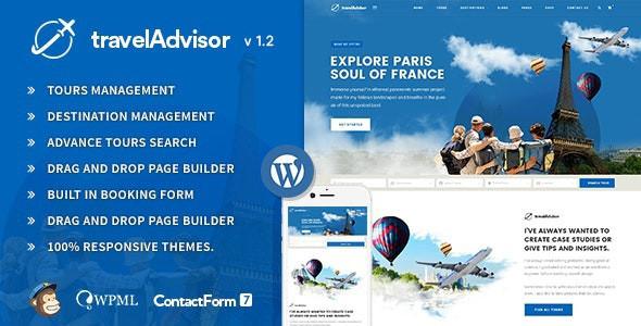 Travel Advisor Responsive WordPress Theme