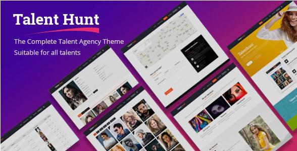 Talent Hunt - Model Management WordPress CMS Theme
