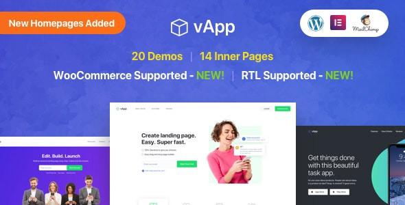 vApp | WordPress App Landing Page
