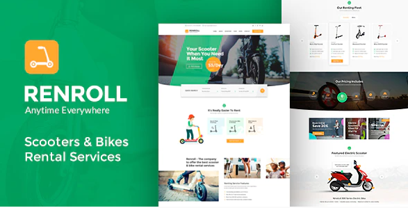 Renroll - Scooter & Bike Rentals Theme