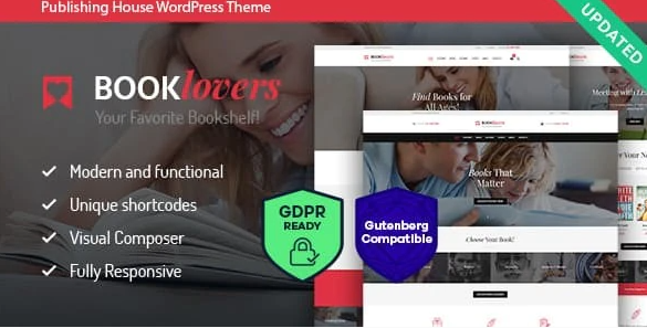 Booklovers - Publishing House & Book Store WordPress Theme + RTL