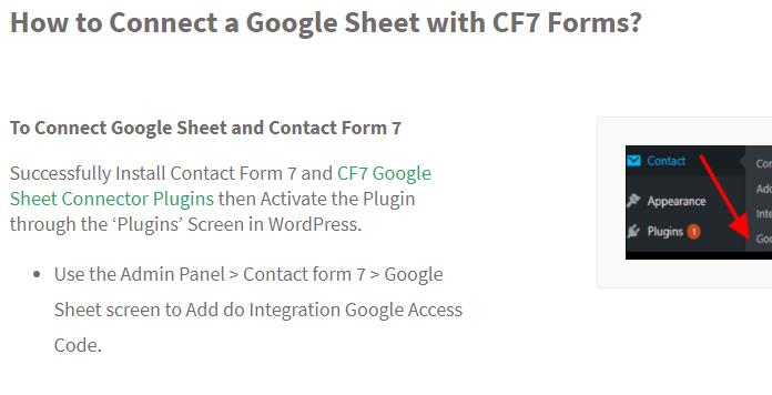 CF7 GSheet Connector