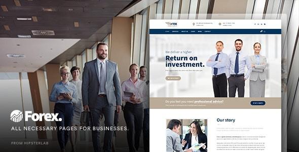 Forex - Business & Financial WordPress Theme