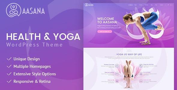Aasana - Health and Yoga WordPress Theme