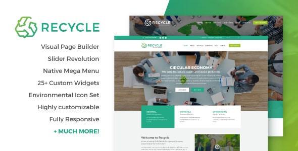 Recycle - Environmental & Green Business WordPress Theme