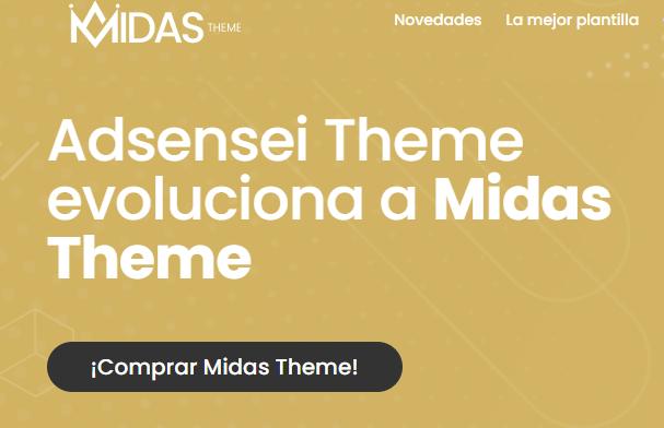 Midas Theme  ¡Comprar Midas Theme!