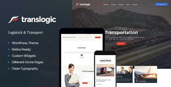 Translogic | Logistics & Shipment Transportation WordPress Theme