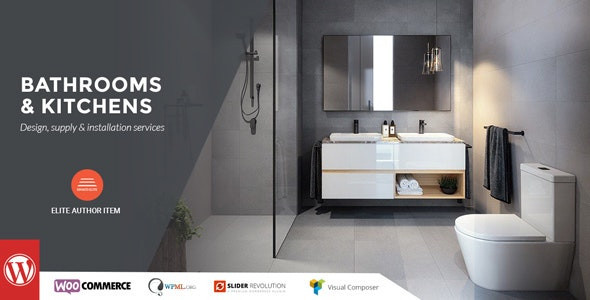 Bathrooms And Kitchens - WordPress Theme