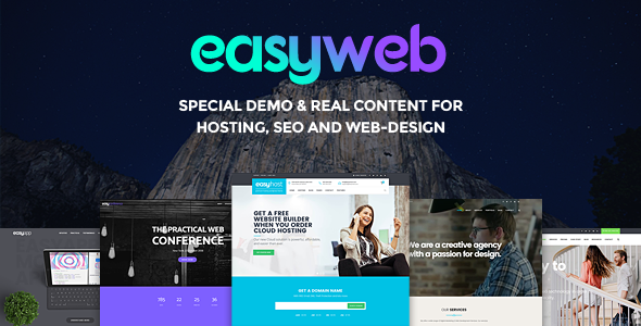 EasyWeb WP Theme For Hosting, SEO and Web-design Agencies