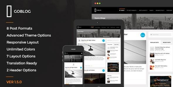 GoBlog - Responsive WordPress Blog Theme