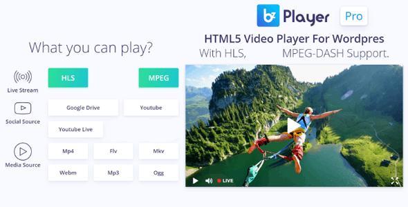bzplayer Pro - Live Streaming Player WordPress Plugin