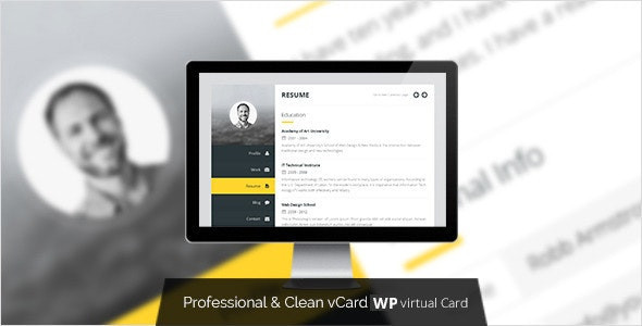 Premium Layers: WordPress vCard & Resume Theme