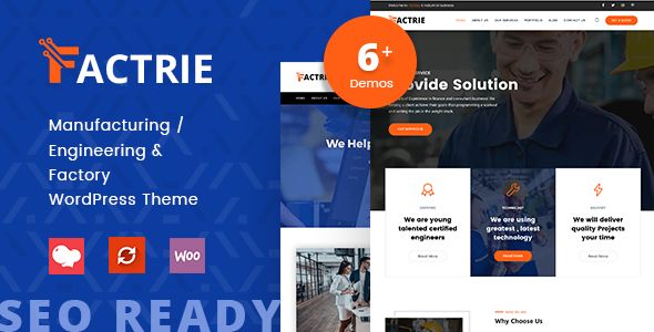Factrie - Manufacturing & Industrial Factory WordPress Theme
