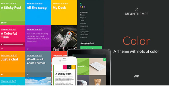 Color: A Blog & Portfolio Theme with lots of color