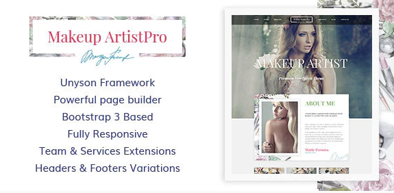 MakeUp Artist Pro - Beauty and Hair Stylist WordPress Theme