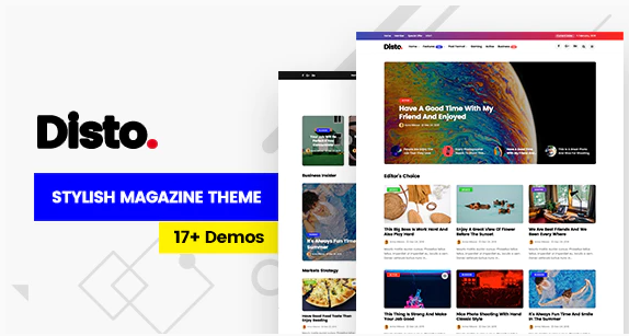 Disto - WordPress Blog Magazine Theme