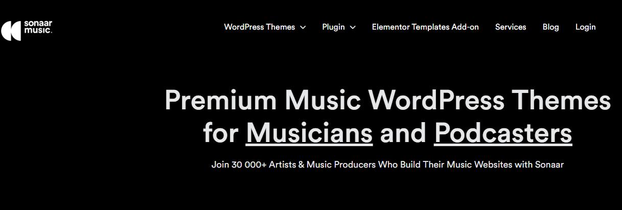Sonaar Wordpress Theme Music Wordpress Themes for Musicians & Podcasters