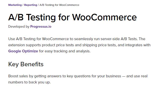 A/B Testing for WooCommerce