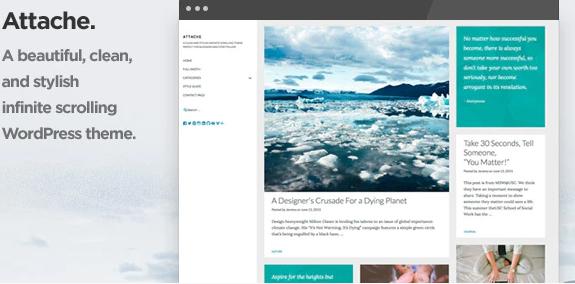 Attache Infinite Scrolling WordPress Theme