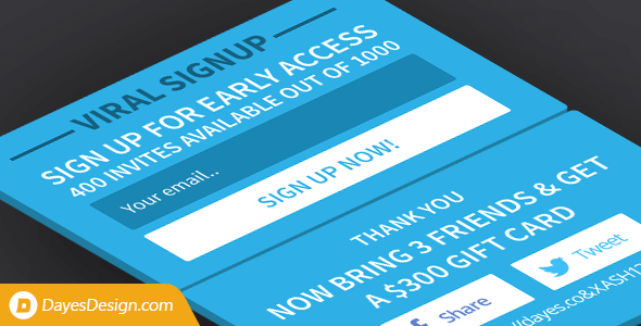 Viral Signup — limited invites signup plugin with viral referral sharing