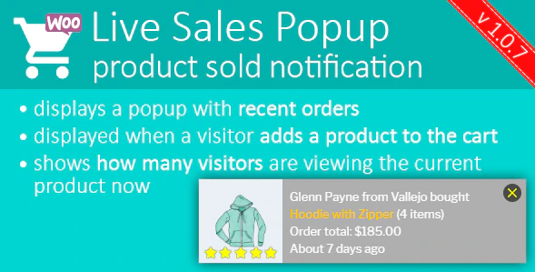 Live Sales Popup: product sold notification - Boost Your Sales - Recent Sales Popup