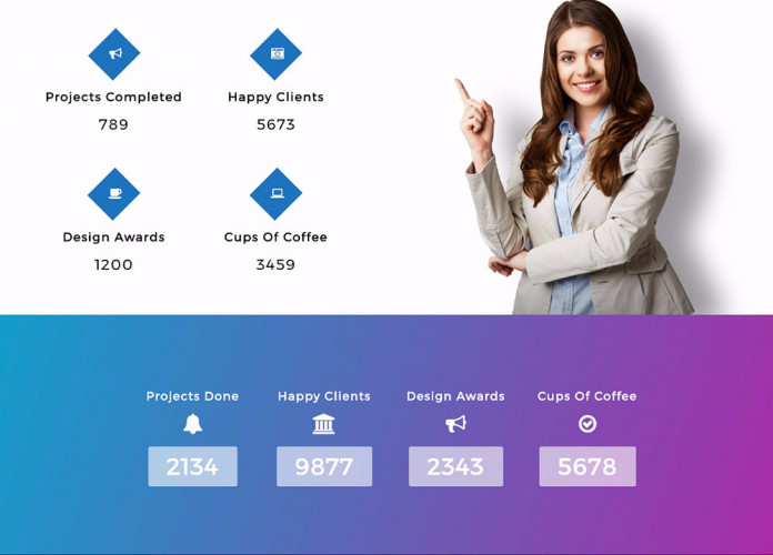 Animated Stat Counter Number Showcase Plugin For Wordpress