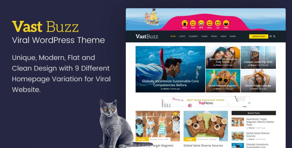 Vast Buzz - Viral Magazine WordPress Theme