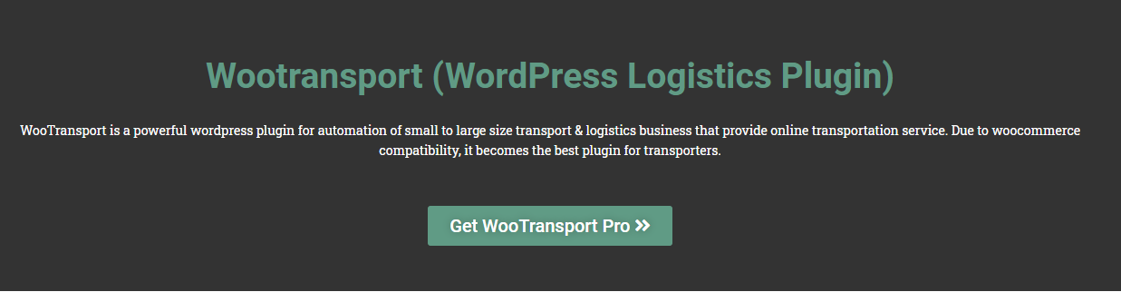 Wootransport (WordPress Logistics Plugin)