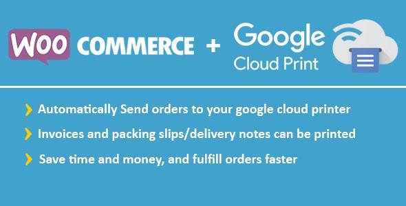 WooCommerce Google Cloud Print   Woocommerce Automatic Order Printing