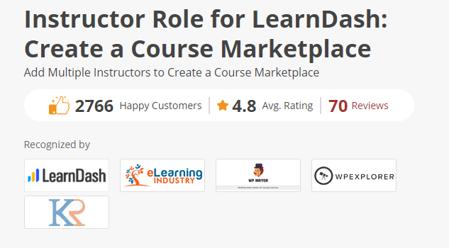 Instructor Role for LearnDash: Create a Course Marketplace