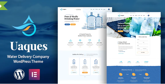 Uaques - Drinking Water Delivery WordPress Theme + RTL