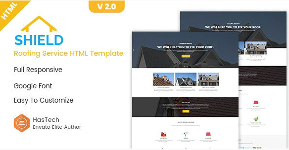 Shield - Roofing Service HTML Template