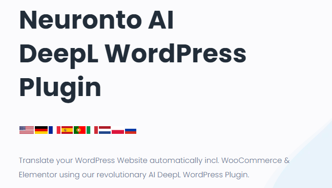 Neuronto AI DeepL WordPress Plugin