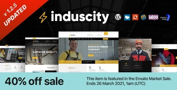Induscity - Factory and Manufacturing WordPress Theme 1.2.5