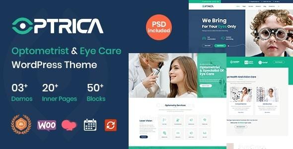 Optrica - Optometrist & Eye Care WordPress Theme 1.1
