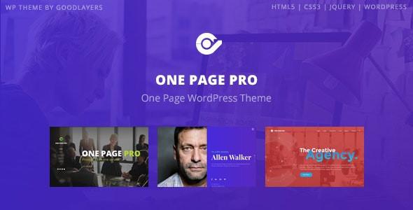 One Page Pro - Multi Purpose OnePage WordPress Theme  Version: