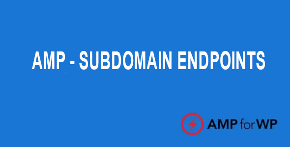 Subdomain Endpoints for AMP  1.1.2