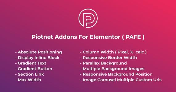Piotnet Addons For Elementor Pro  6.4.5