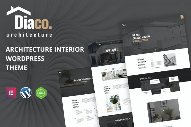 Diaco - Architecture & Interior Design Elementor WordPress Theme 1.5
