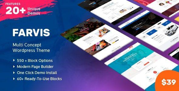 Farvis - Multipurpose WordPress Theme  1.3.4