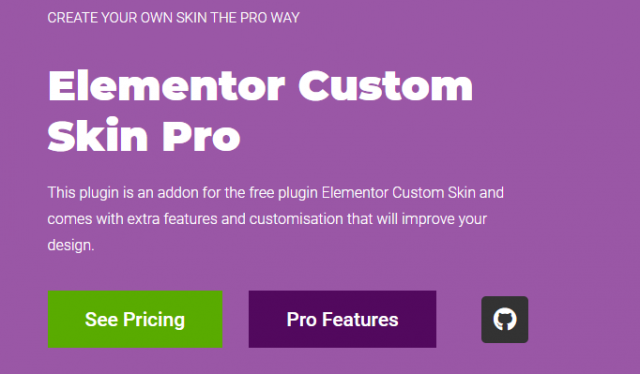 Elementor Custom Skin Pro