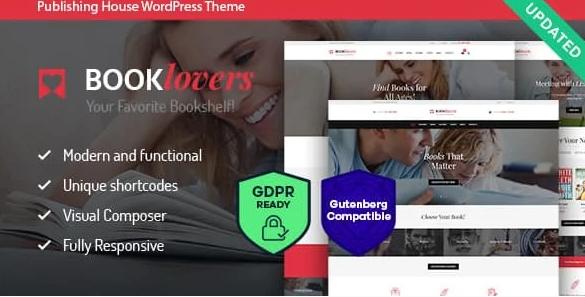Booklovers - Publishing House & Book Store WordPress Theme + RTL