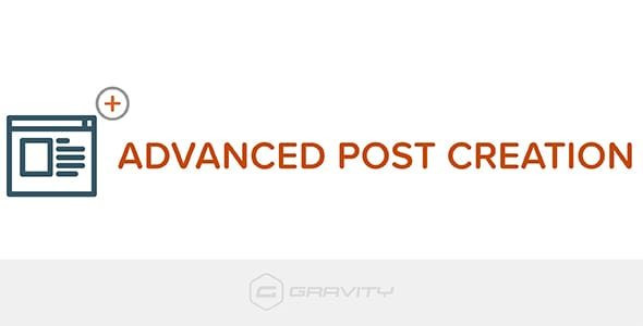 Gravity Forms Advanced Post Creation b 1.1