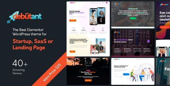 Debutant - Multipurpose WordPress theme for Startup and Agency  1.0.10