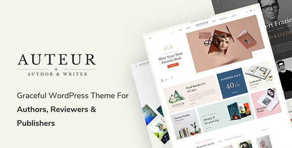 Auteur – WordPress Theme for Authors and Publishers 4.9