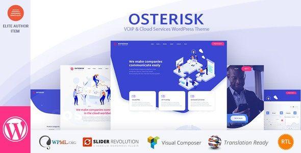 Osterisk: VOIP & Cloud Services WordPress Theme  1.7
