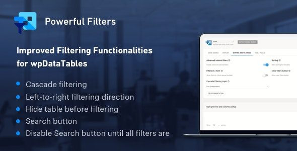 Powerful Filters for wpDataTables  1.2