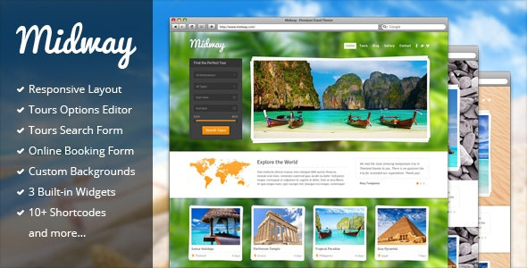 Midway - Responsive Travel WP Theme  Version: