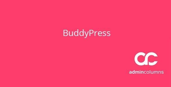 Admin Columns BuddyPress Addon  1.5.0